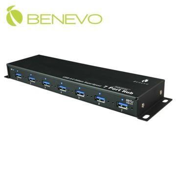 全新 BENEVO UltraUSB工業級 7埠USB3.0集線器,具固定螺絲孔 ( BUH387 )