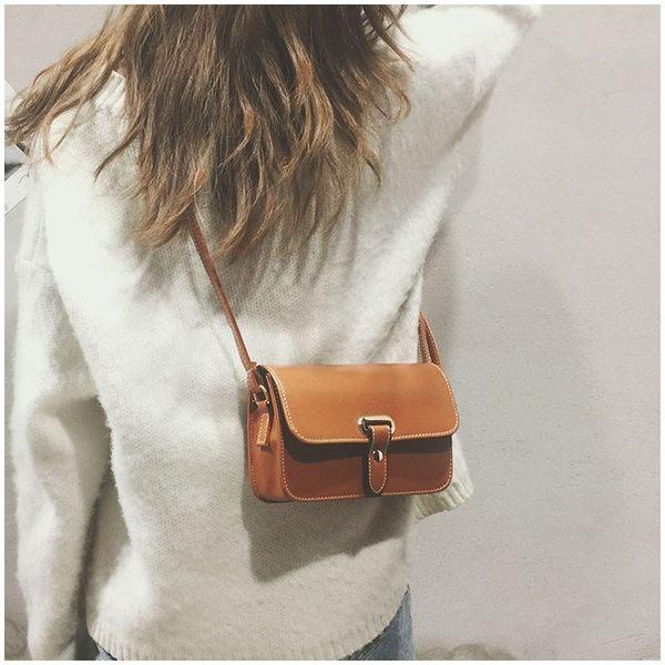 春夏新款時尚韓國小方包百搭小包包簡約女包復古單肩包斜挎包