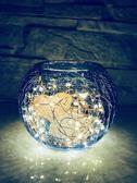 鹽燈創意現代簡約臺燈 臥室床頭玻璃小夜燈喜馬拉雅鹽燈 裝飾生日禮品【販衣小築】