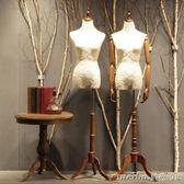 唯力固衣服韓版服裝店櫥窗道具假模特人台模特架女人半身模特道具igo 美芭