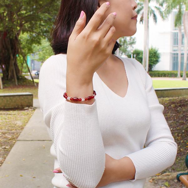 紅瑪瑙手鍊 設計師經典-熱情洋溢 石頭記