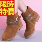 短筒雪靴-民族風正韓低跟磨砂可愛女靴子3色62p17[巴黎精品]
