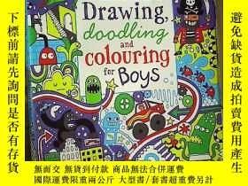二手書博民逛書店The罕見Usborne book of Drawing 大16