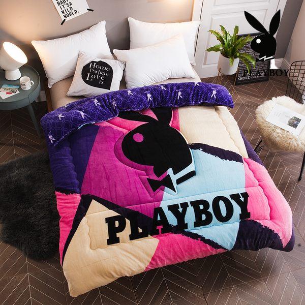 Playboy法蘭絨暖暖被 加厚款 (多款花色任選)【柔軟細緻保暖】PAY-04彩韵時光彩(A-nice)