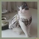 網紅貓咪狗狗寵物衣服韓版秋冬英倫毛呢馬甲裙【小獅子】
