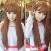 限定款假髮 韓系假髮女空氣瀏海自然長直髮隱形無痕全頭韓系可愛透氣長髮髮套