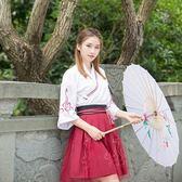 漢服夏裝女改良學生襦裙風古裝女服裝漢元素古風日常女裝套裝
