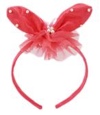 【卡漫城】橘紅小兔子髮箍庫3 ㊣版珍珠髮飾髮圈緞帶  美髮用品髮妝品派對