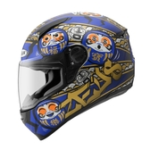 【東門城】ZEUS ZS811 AL35 達摩(消光黑藍) 全罩式安全帽