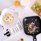 北歐風 陶瓷把柄烤盤 陶瓷盤 烤盤 烤箱 烘培 把柄 手把 單柄 方形烤盤 方盤 焗烤【歐妮小舖】