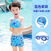 兒童泳衣男童泳褲分體小中大童鯊魚卡通嬰兒泳裝男孩游泳套裝 任選一件享八折