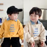 韓系牛仔領假兩件加絨上衣 童裝 加絨上衣 長袖上衣