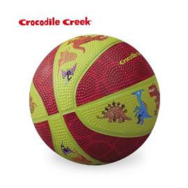 《美國Crocodile Creek》5.5吋兒童運動遊戲籃球-恐龍世界