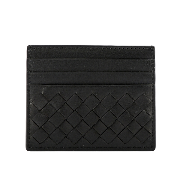 【BOTTEGA VENETA】小羊皮編織6卡信用卡/名片夾(黑色) 522326 V4651 1000