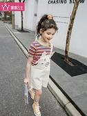 短褲 女童吊帶褲2020新款夏款媛媛公主中大童下裝短褲韓版洋氣兒童褲子