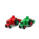 HY TRUCK 華一206 收割機Q 版回力合金車模型車迴力車巴布工程車兩色~楚崴玩具~