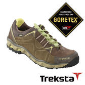 Treksta 女 Gore-Tex 防水低筒登山鞋 短筒健行鞋 淺灰 戶外 KR16FW