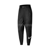 Nike 長褲 NSW Woven Swoosh Trousers 黑 白 女款 風褲 工裝 運動休閒 【PUMP306】 CJ3777-010