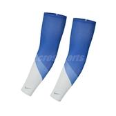 Nike 臂套 Cooling Sleeves 藍 白 男女款 跑步臂套 涼感 一雙/2入 【ACS】 N1000511-958
