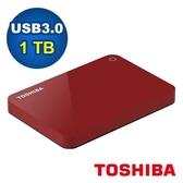 Toshiba 2.5吋 V9 1TB USB3.0 外接式硬碟 紅