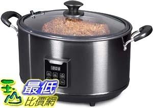 [9美國直購] Presto 燻烤/燉煮兩用鍋 06013 Electric Indoor Smoker and Slow Cooker, 6qt, Black Stainless Steel