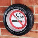 禁止吸菸 輪胎鐘 多功能造型時鐘/鬧鐘/掛鐘(可擺放、掛牆、具鬧鐘功能)-米鹿家居