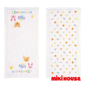 MIKI HOUSE BABY 日本製 可愛動物紗布澡巾2枚入