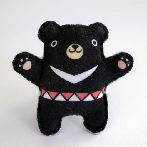 【猴子設計】台灣黑熊(日月潭系列)-布偶明信片
