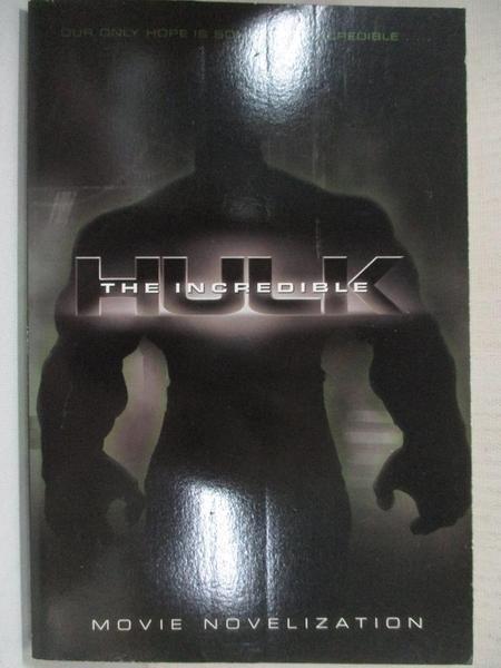 【書寶二手書T9/兒童文學_CNA】The Incredible Hulk_Bright, J. E. (ADP)