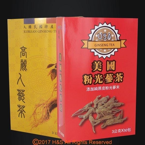 【南紡購物中心】《瀚軒》精選韓國高麗人蔘茶+上選美國粉光蔘茶各1盒