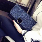 2019新款宴會名媛信封手包韓版個性時尚百搭氣質手拿包女潮 aj8154『黑色妹妹』