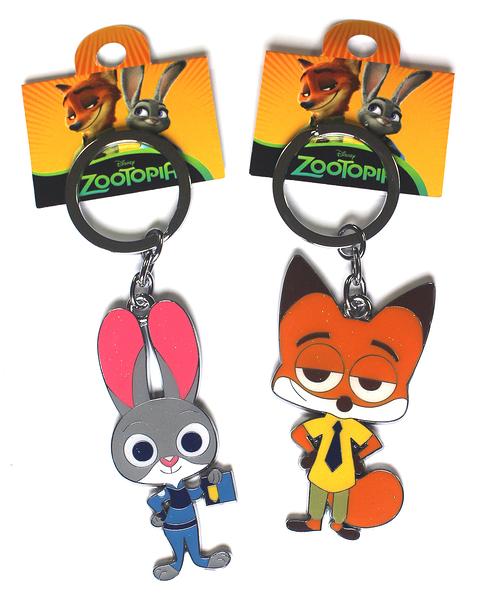 【卡漫城】 動物方城市 金屬 鑰匙圈 二款選一 ㊣版 Q版 兔子 茱蒂 扣環 吊飾 狐狸 尼克 Zootopia