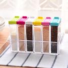 透明彩蓋調味罐套組 一組六個 廚房 料理...