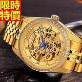 機械錶-陀飛輪鏤空自動精美鑲鑽精鋼男手錶2款66ab32【時尚巴黎】