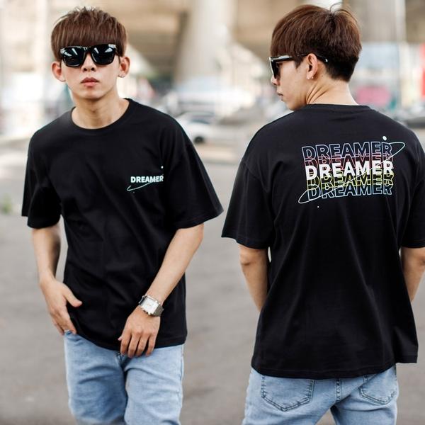 T恤 DREAMER星球軌跡文字短T【NB1042J】