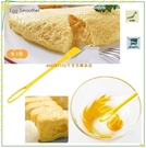asdfkitty*日本川嶋雙頭攪拌打蛋器含小刮刀-1次就可戳破蛋黃.一顆蛋也容易拌勻-日本製