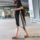 孕婦連身裙時尚寬鬆大碼長款過膝長裙夏裝裙子【時尚大衣櫥】