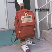 2019新款街頭潮流正韓帆布雙肩包大容量旅行背包學生書包男女包包 【快速出貨】