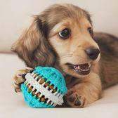 【全館】現折200狗狗玩具球金毛用品耐咬寵物訓練橡膠磨牙狗球泰迪潔齒磨牙可放食