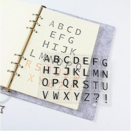 【BlueCat】大小寫英文字母透明矽膠印章