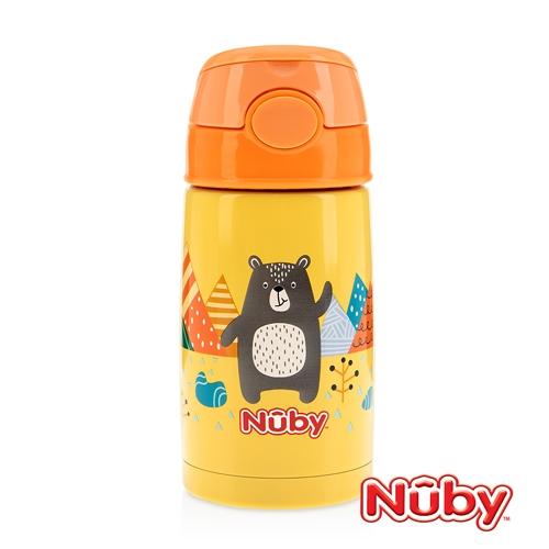 Nuby不鏽鋼真空隨行杯-探險小熊 300ml