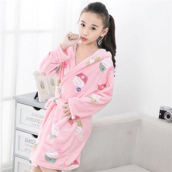 春秋季兒童睡袍法蘭絨小孩女寶寶冬季男孩睡衣男童女童珊瑚絨浴袍 雙11購物節