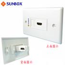 HDMI 面板插座 L型(WP-1HL) - SUNBOX
