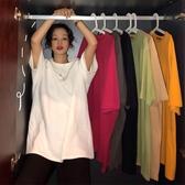 中長款T恤 2020夏裝歐貨新款韓版歐洲站寬鬆中長款chic短袖T恤女ins洋氣小衫 中秋降價