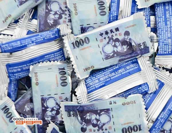 【吉嘉食品】77新台幣代可可脂巧克力(壹仟) 300公克 [#300]{092-163}