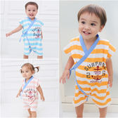 日式無袖連身衣 綁帶 爬服 男寶寶 女寶寶 哈衣 Augelute Baby 61021