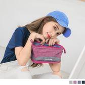 《ZB0606》混色休閒風立體化妝包/收納包 OrangeBear