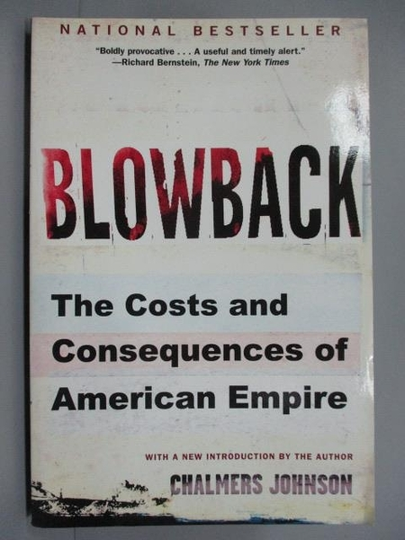 【書寶二手書T8/原文書_IDE】Blowback: The Costs and Consequences of Ame