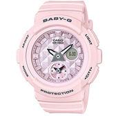 BABY-G 立體鉚釘設計粉嫩春天氣息風格休閒錶-粉紅