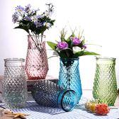 花瓶擺件北歐式大號玻璃水培透明家居客廳創意富貴竹插花瓶加高款